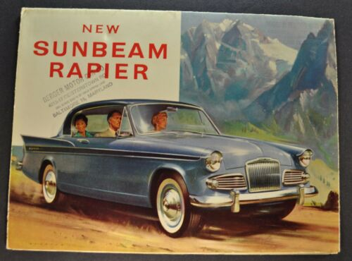 1960 Sunbeam Rapier Sales Brochure Folder Excellent Original 60