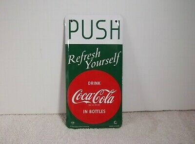 Coca-Cola Push Pull Door Screen Door Plate Set of 2 Refresh Yourself Disc