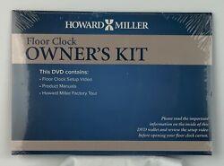 HOWARD MILLER FLOOR CLOCK OWNER'S KIT SEALED NEW CONTAINS DVD