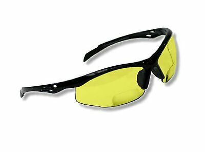 Bifocal Safety Glasses Sb-9000 With Yellow Lenses 2.00