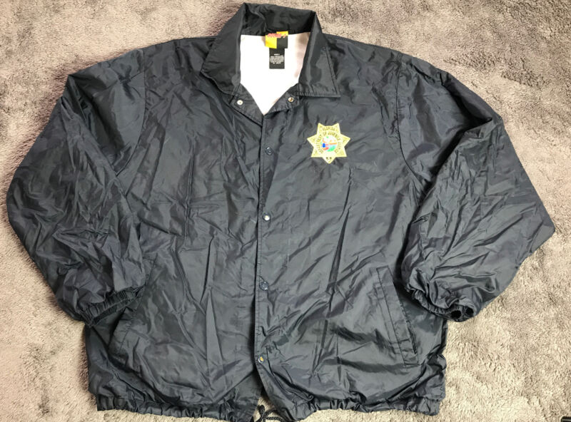 Authentic Department Of Juvenile Justice Florida Jacket Police Sheriff Large