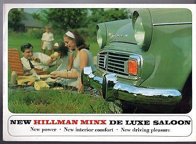 Hillman Minx Series VI 1725cc De Luxe 1965-66 UK Market Sales Brochure