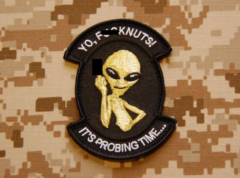 Probing Time Morale Patch MARSOC Afghanistan Taliban Alien Paul USMC Semper Fi