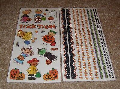 Me & My Big Ideas Retired Sticker Set ~ Halloween Kids & Halloween Borders