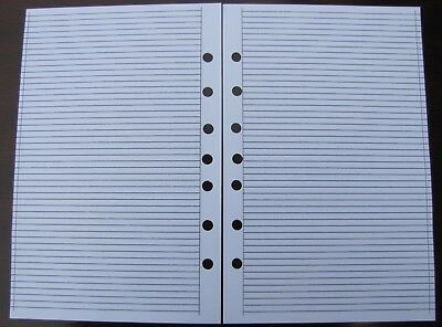 Ruled Pages Refill For A5 7-ring Planner Organizer Insert