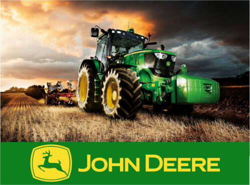 18X24 Poster of a John Deere Tractor and Equipment - Farm - Ranch - Harvest #1