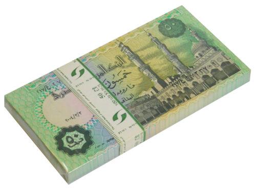 EGYPT 50 PIASTRES 2004 P 62 UNC BUNDLE OF (100 PCS)