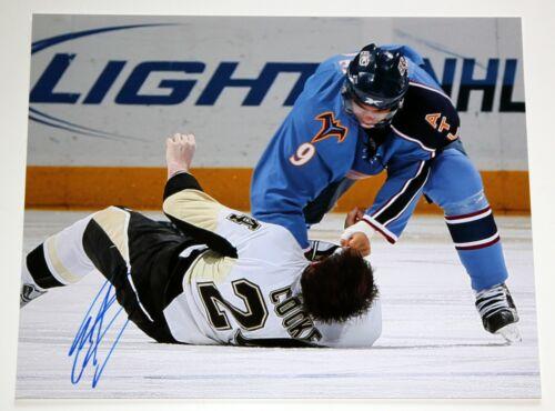 EVANDER KANE SIGNED 11x14 PHOTO MATT COOKE KNOCKOUT SJ SHARKS NHL AUTOGRAPH COA