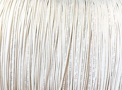 100 Ft Reel Ul1007 20 Awg White Hook Up Lead Primary Wire Tinned Stranded 300v