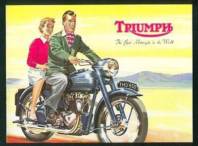 1954 Triumph Brochure Tiger 100 Thunderbird Terrier Cub Original New Old Stock