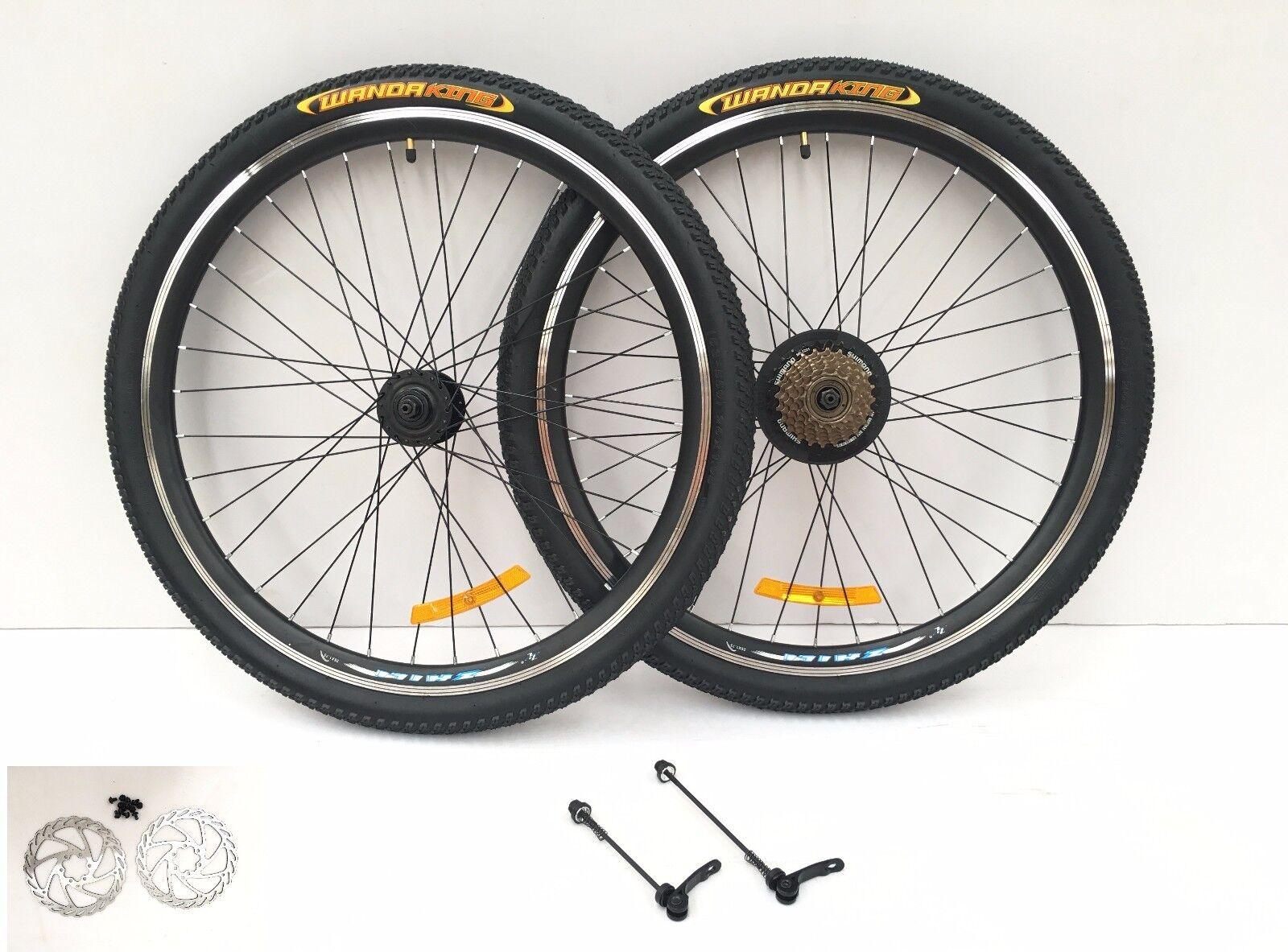 "26"" inch MTB bike Aluminum Alloy spoke wheelset wheel rims +"