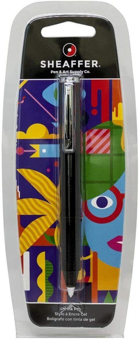 Sheaffer POP Gel Rollerball Pen, Black & Chrome, New In Blister Pack Collectibles