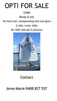 Optimist Dinghy for sale