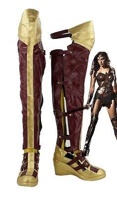 Batman vs Superman Wonder Woman Cosplay Schuhe Kostüm Shoes Stiefel Boots ()
