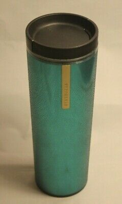 Starbucks Textured Teal Shiny Plastic 16oz 2013 Coffee Tea Travel Tumbler Cup