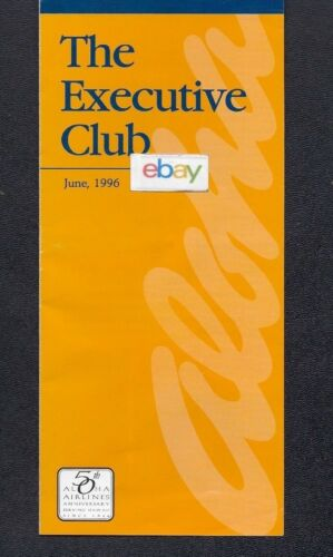 ALOHA AIRLINES 6-1996 THE EXECUTIVE CLUB BROCHURE & ENROLLMENT FORM