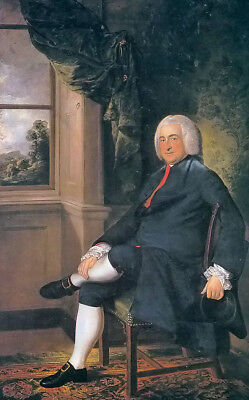 Oil painting thomas gainsborough - noble man Robert Craggs seated portrait art for sale  Shipping to Canada