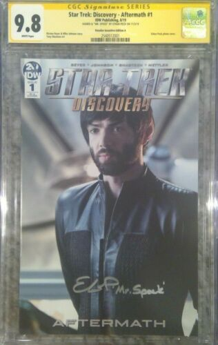 Star Trek: Discovery - Aftermath #1 photo cover_CGC 9.8 SS_Signed by Ethan Peck