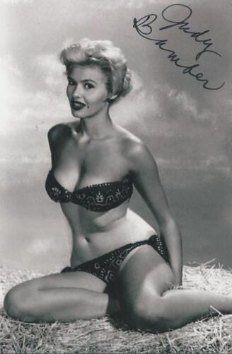 Judy Bamber autographed Pin Up Model Bombshell Actress Rare COA LOOK!!