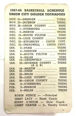 Vintage Pocket Schedule Reelfoot Packing Company Union City Tennessee 1967-68](Party City Schedule)