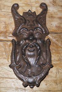 Charmant Cast Iron Antique Style GRIFFIN / GARGOYLE Door Knocker Brown Finish