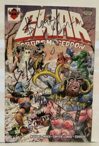 Gwar Orgasmageddon #1 East Side Mags Variant RARE 500 Copies SIGNED by Band