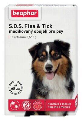 S.O.S Beaphar Antiparasitic collar Dogs 65cm Flea Tick 4-8 months White protect