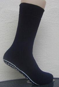1-Paar-Hombre-Calcetines-stopper-medias-con-ABS-Suela-Protuberancia-unica-azul