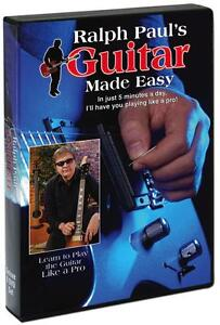 NEW Ralph Paul's Guitar Made Easy DVD Set Learn To Play Guitar AS SEEN ON TV