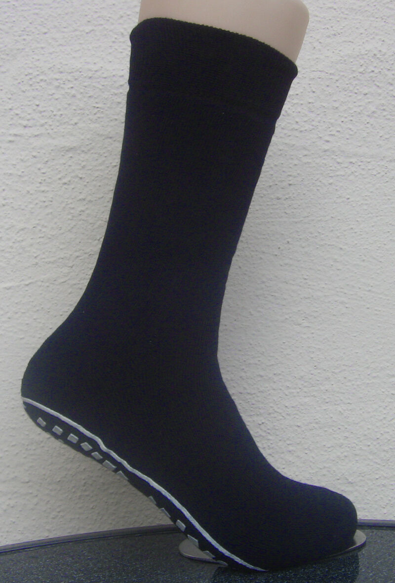 1 Paar Herren Stoppersocken Socken mit rutschfester ABS Sohle blau 39 bis 46