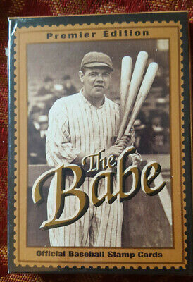 1994 GUYANA BABE RUTH OFFICIAL GOLD FOIL BASEBALL STAMP 12 CARD SET (Official Foil Seals)