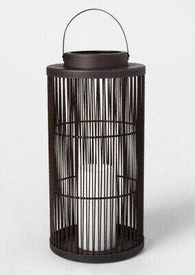 2 Vertical Weave LED Battery Operated Outdoor Lanterns - Threshold™