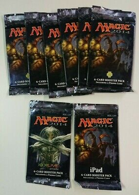 Lot of 8 MTG 2014 - 6 Card Booster Packs With Promo Card - Android, iPad, XBOX