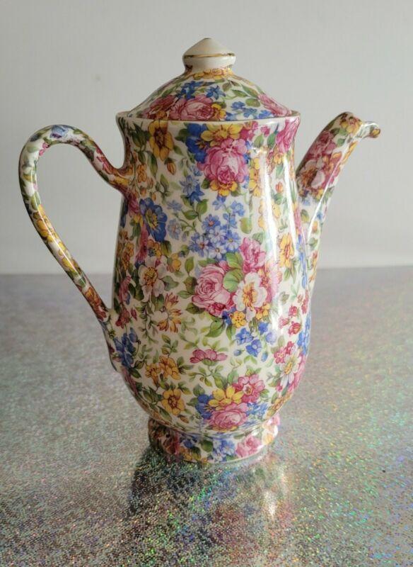 Erphila Czechoslovakia Chintz PORTLAND Porcelain Teapot
