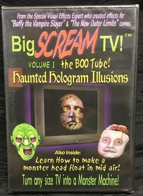 Sealed Big SCREAM TV Volume 1 The BOO TUBE DVD Haunted Hologram Halloween Horr