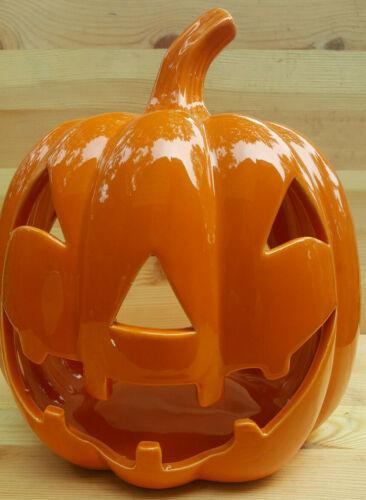 "9"" X 7.Ceramic Pumpkin Jack O Lantern Candle Holder SHIPS NEXT DAY"