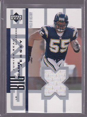 Big Game Junior Football (2002 UD Piece of History The Big Game Jerseys #BGJJS Junior Seau )
