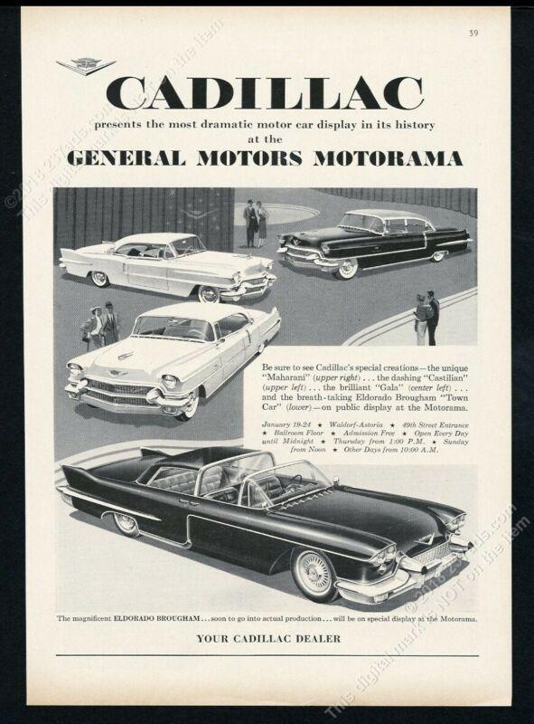 1956 Cadillac Eldorado Brougham Castilian Gala Maharani GM Motorama car show ad