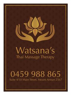 Watsana's Thai Massage Therapy.
