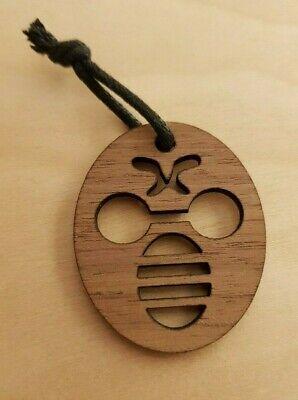 Schlüsselanhänger Biene Holz Nussbaum Amerikanisch Imkerei Imker Bee