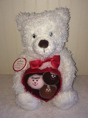 "Hallmark Benny & The Bonbons White Bear Plush Motion Sings Honey Sugar 11"" NWT"