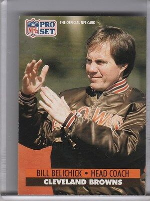 1991 Proset  126 Bill Belichick Rookie Rc Brown   Patriots 5307