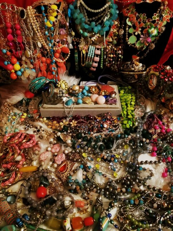 Vintage Modern Lbs Jewelry Lot Estate Bright Color🌻Rhinestone Spring Big Mix 🌻