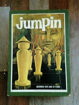 JUMPIN Game of Pawns 3M Bookshelf Boardgame Complete 1964 Vintage