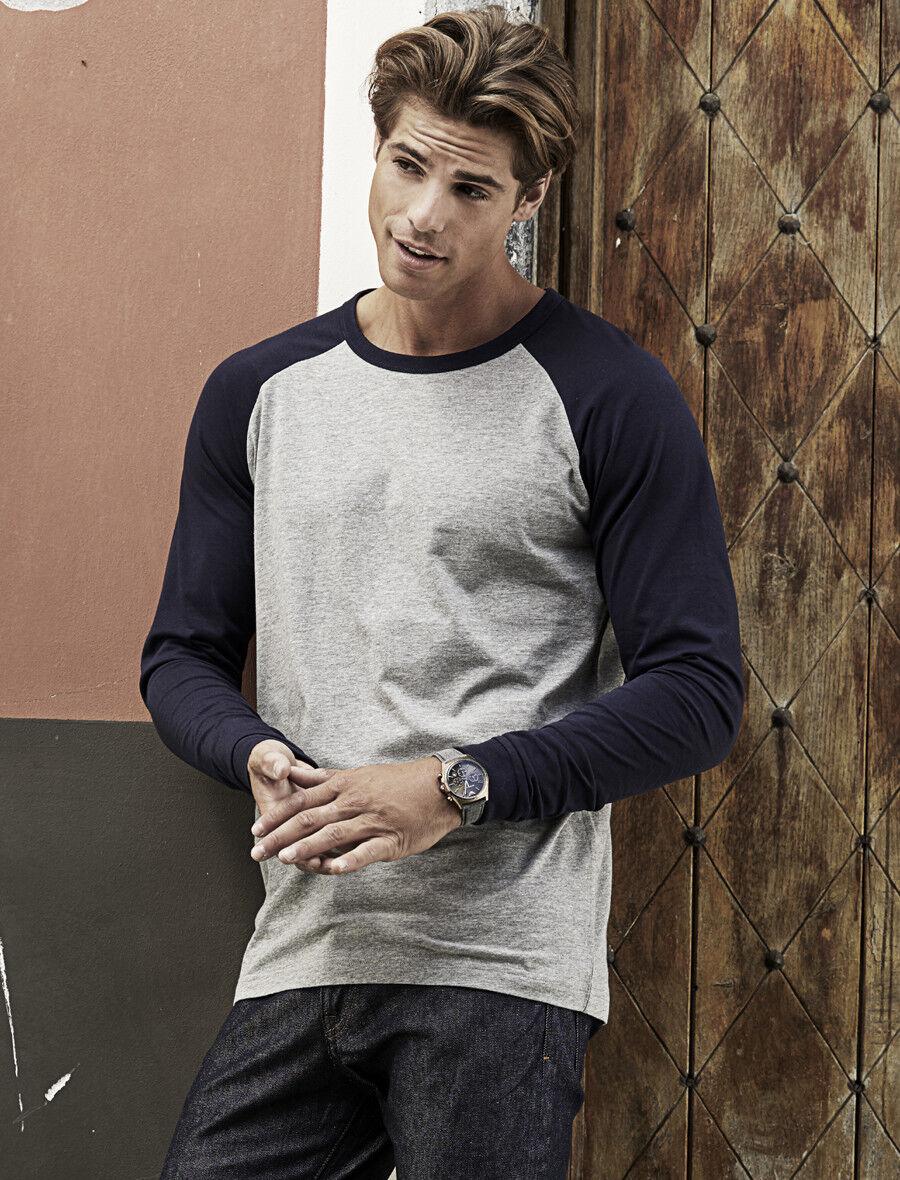 Herren Baseball Longsleeve T-Shirt Tee Jays S - 3XL langfaserige Baumwolle 5072