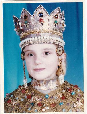 Russian Girl Costume (1997 Cute little girl in Russian Tsarina Costume Crown vintage Russian)