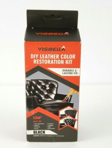 Visbella DIY Black Leather Color Paint and Dye Repair Kit for Couch, Sofa, Seats