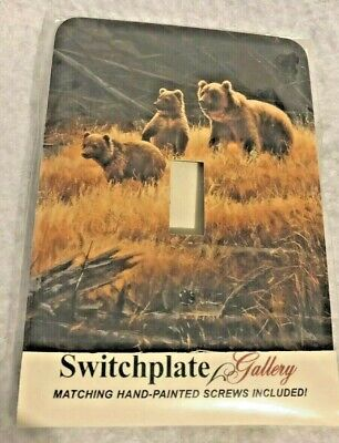 Bear Single Switchplate (Momma Bear w/ Cubs SINGLE LIGHT SWITCH WALL PLATE COVER Switchplate)