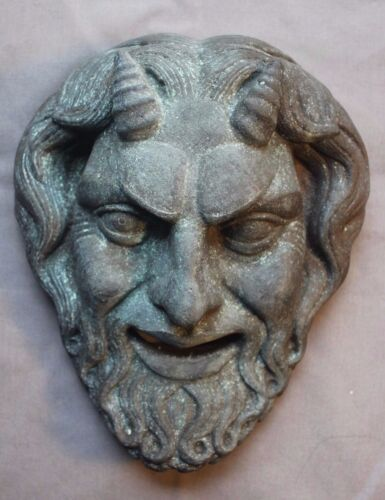 Greek Roman Theater Mask Satyr Copper Gothic Centaur Skull Rare Masonic Oddity