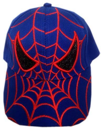 KIDS BASEBALL BLUE CAP WITH ADJUSTABLE SPIDERMAN DESIGN